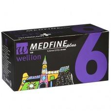 Универсальные иглы 6 мм Wellion MEDFINE plus