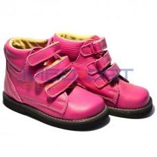 Детские ортопедические демисезоннные ботинки WIK 13-10 розовые
