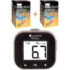 Глюкометр Wellion Calla Light с 100 тест-полосками в комплекте