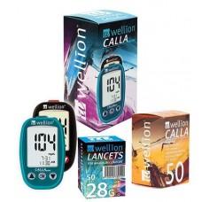 Глюкометр Wellion Calla Mini с 50 тест-полосками + ланцеты 50 шт