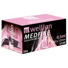 Шприцы инсулиновые Wellion MEDFINE 30 шт 0.5ml игла 8 мм