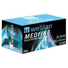 Инсулиновые шприцы Wellion MEDFINE 0,5 мл 12 мм