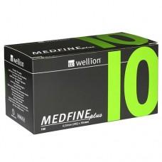 Универсальные иглы Wellion MEDFINE plus для инсулиновых шприц-ручек 10 мм ( 31G x 0,25 мм)
