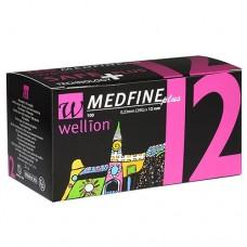 Универсальные иглы Wellion MEDFINE plus для инсулиновых шприц-ручек 12 мм ( 31G x 0,25 мм)