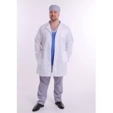 "Медицинский халат ""Ролан"" муж. (Длинный рукав,на пуговицах)"